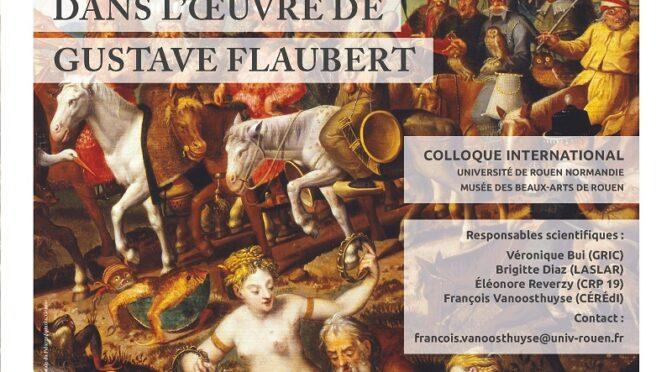 Genre et sexualité dans l'œuvre de Gustave Flaubert – 8-9-10septembre2021