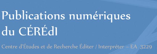 Site des publications numérique du CÉRÉdI